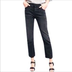 Current/Elliot cut off waistline ankle crop jeans